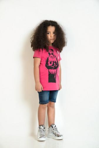 T-shirt met pandaprint